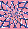 Optical pink blue background vector image