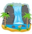 Waterfall in tropic vector image