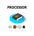 Processor icon in different style vector image