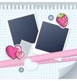 cute frame for photos vector image