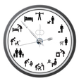 working day clock vector image vector image