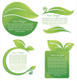 leaf frames and stickers vector image vector image