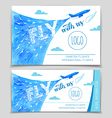 Fly with us Airline flyer design vector image