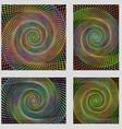 Fractal spiral page background design set vector image