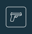 gun outline symbol premium quality isolated vector image