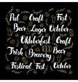 Oktoberfest Calligraphy Design vector image