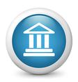 bank glossy icon vector image vector image