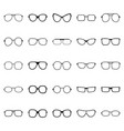 set of glasses and sunglasses vector image vector image