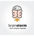 Abstract brain logo icon concept isolated on white vector image