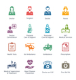 Colored Medical Services Icons - Set 1 vector image vector image