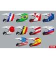 Set of Motorcycle Helmets vector image