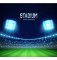 stadium with lights and tribunes eps 10 vector image