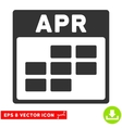 April Calendar Grid Eps Icon vector image