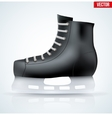 Black classic hockey ice skates vector image