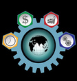 Business strategy plan vector image