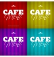Cafe Menu card design template vector image