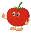 Character tomato vector image