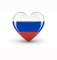 Heart-shaped icon with national flag of Russia vector image