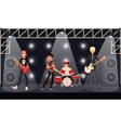 Rock band musicians perform on stage vector image