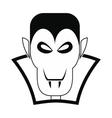 Vampire dracula icon vector image