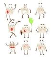 Letter Paper Envelop Cartoon Character Emotion vector image