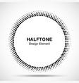 Black Abstract Circle Frame Halftone Dots Logo vector image