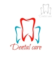 Dentistry tooth dental care dentist icon vector image vector image