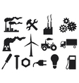 industry icons collection vector image vector image