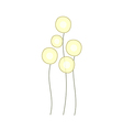 Balloon sculptures vector image vector image