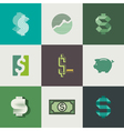 Dollar signs design vector image