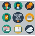 Business infographic flat design vector image vector image