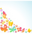 Colorful spring background design vector image vector image