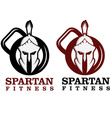 spartan fitness design template vector image