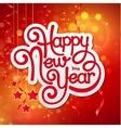 Inscription Happy New Year vector image