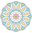 Pastel colored floral mandala isolated on white vector image