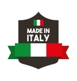 flag and shield icon Italy culture design vector image