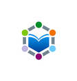 book learning education logo vector image