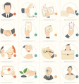 Business man concept icons vector image