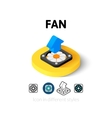 Fan icon in different style vector image