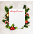 Merry Christmas Festive Background vector image
