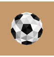 origami soccer ball vector image
