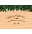 realistic wood texture christmas tree branches vector image