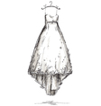Wedding dress on a hanger vector image