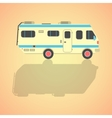 yellow travel camper van with shadow vector image