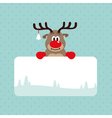 Christmas Rudolph Rednosed Reindeer Card vector image