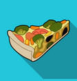 vegetarian vegetable piepie of vegetables without vector image