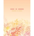 Glowing fall plants vertical card background vector image