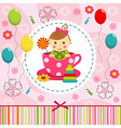 baby girl in cup vector image vector image