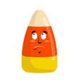Candy corns surprised emoji sweet emotion vector image
