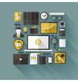 Bitcoin essentials Modern flat design elements vector image vector image